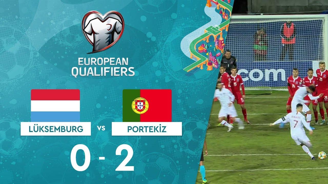 Lüksemburg 0-2 Portekiz | EURO 2020 Elemeleri Maç Özeti - B Grubu