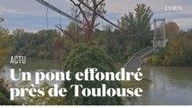 A Mirepoix-sur-Tarn, près de Toulouse, un pont s'effondre faisant au moins un mort