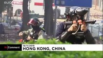 Hong Kong police descend on protesters at university campus