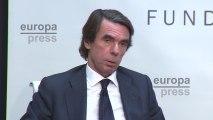 Aznar presenta un informe en la Fundación FAES