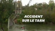 Les images du pont effondré à Mirepoix-sur-Tarn près de Toulouse