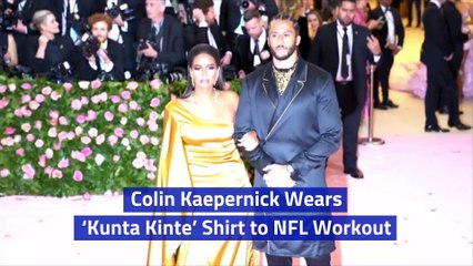 Colin Kaepernick Wears 'Kunta Kinte' Shirt to NFL Workout
