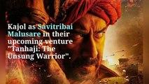 Tanhaji: The Unsung Warrior': Ajay Devgn unveils Kajol's captivating first look as Savitribai Malusare