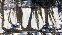 Luftaufnahmen von Murenabgängen im Gasteinertal