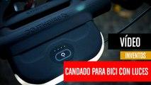 [CH] Candado de bici que se convierte en un potente foco delantero y trasero