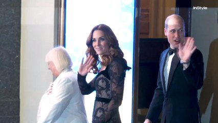 Kate Middleton Steps Out Wearing Alexander McQueen for annual Royal Variety Performance