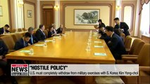 N. Korea rejects nuclear talks before U.S. withdraws hostile policy