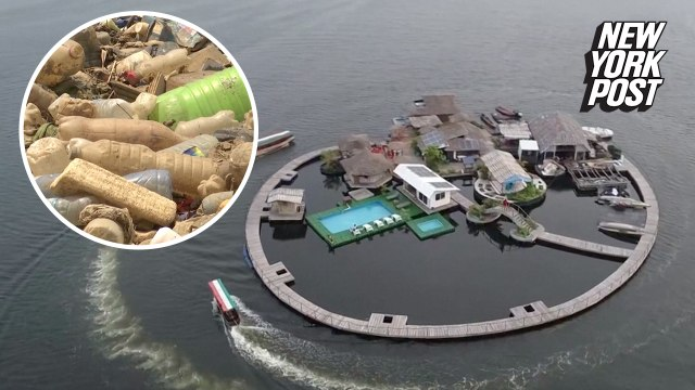 This island paradise is made entirely from plastic