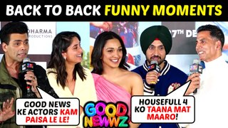 Akshay, Kareena, Kiara, Diljit Back To Back FUNNY Moments | Good Newwz Trailer Launch | UNCUT
