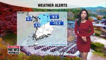 Cold snap to stay until Thursday, chilly all day