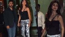 Shilpa Shetty and Raj kundra looks stunning in Arpita Ayush wedding anniversary   Boldsky