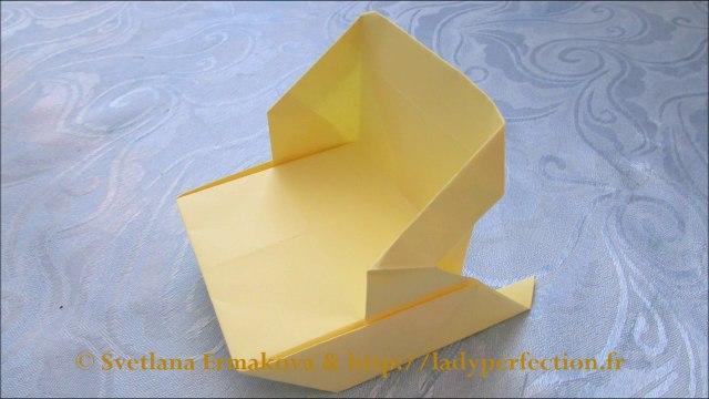 Origami :  Traîneau , luge