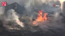 Bolu'da bir köyde 4 ev, 6 samanlık, 1 ahır yandı