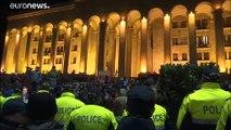 Fim do bloqueio do Parlamento georgiano
