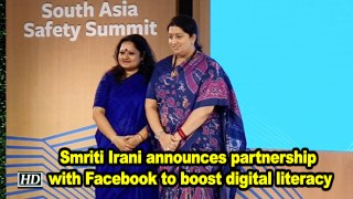 WCD minister Smriti Irani announces partnership with Facebook to boost digital literacy