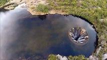 Ce lac se vide par un trou mystérieux - Covão dos Conchos au portugal