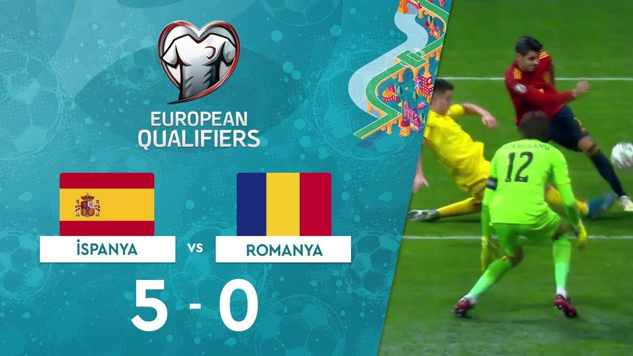 İspanya 5-0 Romanya | EURO 2020 Elemeleri Maç Özeti - F Grubu
