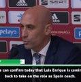 Spanish FA confirm Enrique return