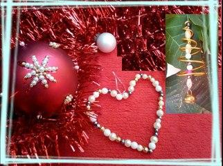 Créations de boules de Noël avec utilisation recyclage de perles