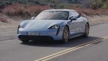 Porsche Taycan 4S in Frozen Blue Driving Video