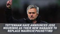 Mourinho appointed as new Tottenham manager