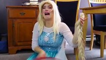 Frozen Elsa, and regains the lost hair, Funny, Fun
