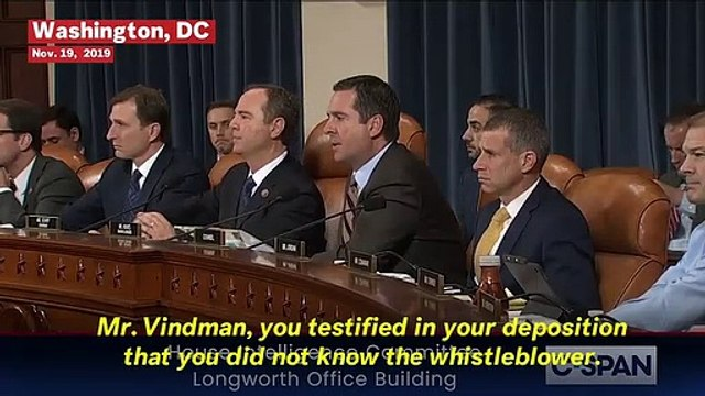 Vindman Insists He Be Called Lieutenant Colonel During Trump Impeachment Hearing