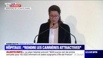 """Plan hôpital: Agnès Buzyn prévoit """"une prime annuelle de 800 euros aux 40.000 infirmiers gagnant moins de 1800 euros mensuels"""" en Île-de-France"""