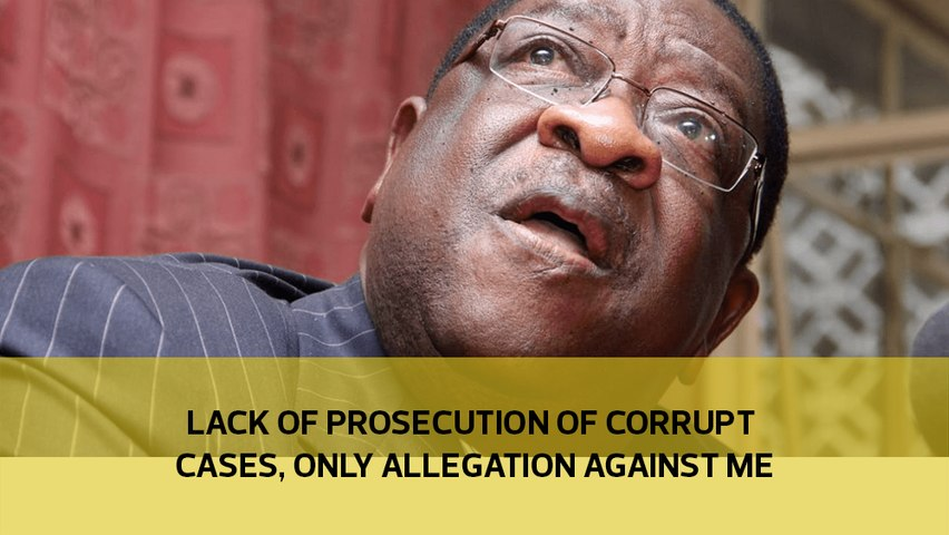 Lack of prosecution of corrupt cases, only allegation against me