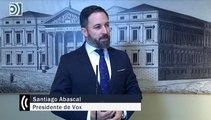 """Santiago Abascal denuncia el """"blanqueamiento mutuo"""" entre el PSOE y Podemos"""