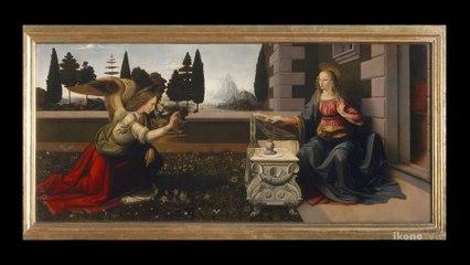 Leonardo  da  Vinci, the Annunciation