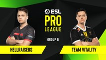 CSGO - HellRaisers vs. Team Vitality [Overpass] Map 1 - Group B - ESL EU Pro League Season 10