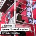 """VIDÉO. Un artiste yéménite dévoile une fresque à Paris contre """"l'hypocrisie internationale"""""""