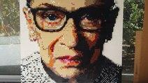 This artist creates portraits using thousands of LEGO bricks