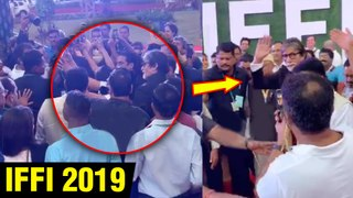 Amitabh Bachchan Meets CRYING FEMALE Fan For Selfie, Gets MOBBED At IFFI 2019 Goa