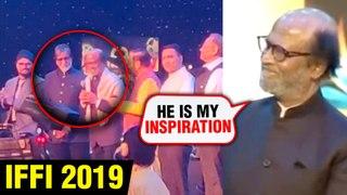 IFFI 2019 Goa | Superstar Rajinikanth PRAISES Amitabh Bachchan With Karan Johar | EXCLUSIVE