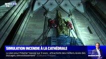 Les images d'une simulation d'incendie à la cathédrale de Strasbourg où les pompiers devaient sauver les nombreuses œuvres d'art