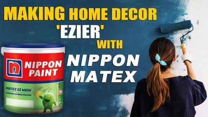 Nippon paint launches MATEX EZ washpaint that survives 1,000 scrubbings   Oneindia News