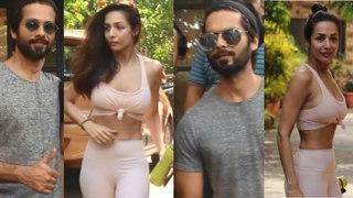 Spotted: Shahid Kapoor at Antigravity gym at Pali Hill & Malaika Arora at Diva Yoga