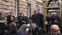 Alex Salmond pleads innocence outside High Court