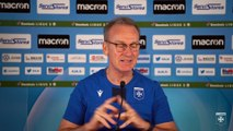 La conférence de presse de Jean-Marc Furlan avant Paris FC-AJA