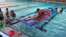 Sarreguemines (57) : une initiation à la natation avec Camille Dauba pour les enfants de La MECS