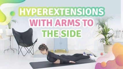 Hyperextensions with arms to the side - Step to Health