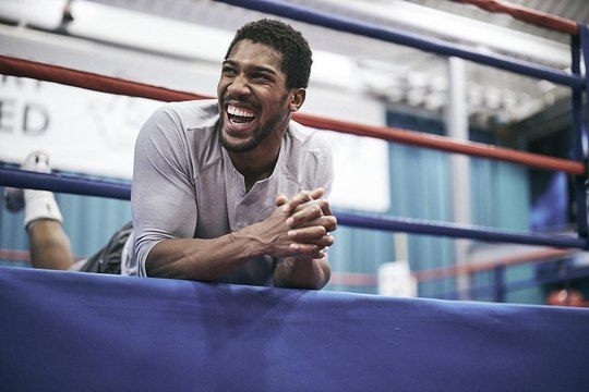 Anthony Joshua in Camp #2 WRAPPING