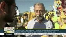 Chile: trabajadores públicos mantienen paro por mejores condiciones