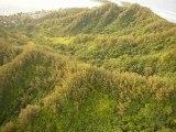 Survol des montagnes de Moorea, Polynésie Française