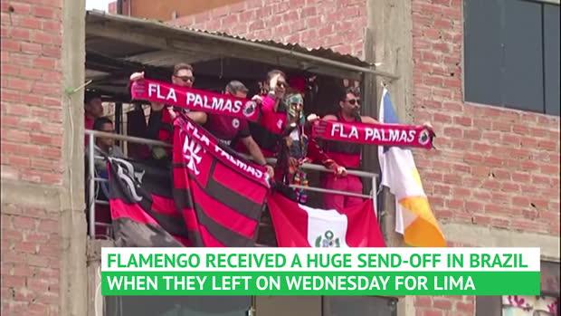 Flamengo and River Plate train in Peru ahead of Saturday's final