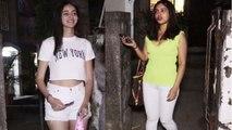 Ananya Panday & Bhumi Pednekar spotted this look at Kromakay Salon;Watch video   FilmiBeat