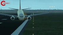 THY uçağı Odessa'da pistten çıktı