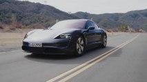 Porsche Taycan 4S in Volcano Grey Driving Video
